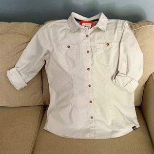 NWT The North Face Front Pockets Button Up Medium